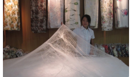 Bedding made of silk