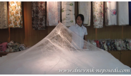 Bedding made of silk
